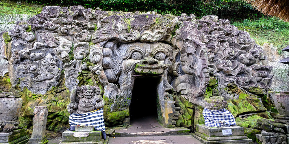 Goa Gajah (Elephant Cave Temple) is one of the most popular tourist destinations in Bali - Bali Tour Package