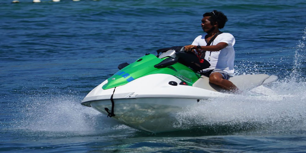 Bali by doing jet ski with no instructor in Bali