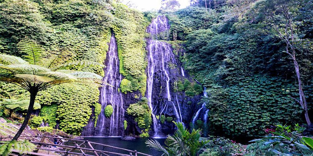 Banyumala a Fantastic Twin Waterfall in Bali - Bali Tour Package